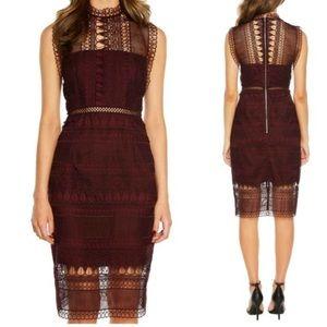 Bardot Mariana Lace Body-Con Sheath Dress sz 4/XS